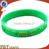 colorful round cheap custom silicon rubber band bracelet with printing logo                                                                         Quality Choice