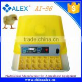 Alex factory price automatic 56 eggs incubator with egg turner