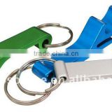 Hot Sale Mini Cheap Aluminum Super Portable Pocket Shaped Anodized Wine Beer Carabiner with Bottle Opener for promotion