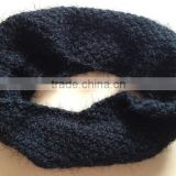 New Fashion Fat Acrylic Chunky Knitting Feather Yarn Fluffy Neck Round Scarf Snood