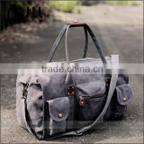 Fashion Teenager Style Canvas Sports Custom Gym Duffle Bag                                                                         Quality Choice