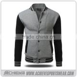 mens Black leather nylon zip up Bomber Jackets