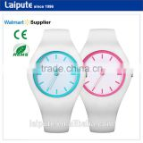 Alibaba Express 2016 New Japan Movt 3ATM Young People Colorful Rubber Silicone Ladies Wrist Watches