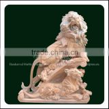 Hand Carved Wholesale Outdoor Lion Marble Sculptures