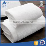Weisdin Wholesale Cheap White Cotton Dobby Style Hotel Face towel