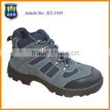 Best selling safety shoes with blue color suede leather upper