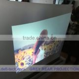 Adhesive back projection screen foil,transparent rear projection film, Perfect advertisement medium