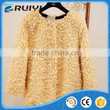 High quality women clothes artificial fur overcoat
