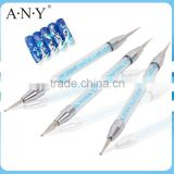 ANY Nail Art Beauty Care Blue Rhinestone 3PCS Nail Dotting Set