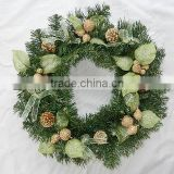 wholesale christmas circle, beautiful wreath decoration,xmas tree assessories heart shape Christmas tree