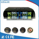 Wireless solar power external tpms sensor 433.92 mhz digital temperature display bluetooth pressure gauge