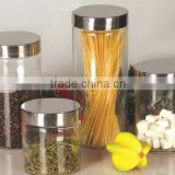 Glass mason jars with stainless steel lids
