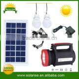 Rechargeable 12v DC solar lighting solar LED Flashlight 3.5W solar lighting system for home