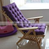 Wooden Sun Lounger &Steamer Chair Cushion
