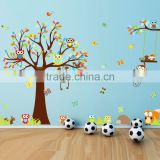 Custom DIY removable cartoon children tree wall sticker animal nursery vinyl wall decals                                                                         Quality Choice