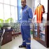 Coverall with reflective tapes ,coverall for UAE market, 100% cotton safety workwear,basic design