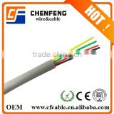 2 pair telephone cable factory price FLAT ROUND CABLE 4P4C