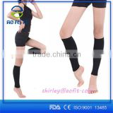 Hospital choose Medical use calf and shin compression sleeve, black and beige anti varicose veins sleeves Image