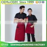 Wholesale new design Restaurant Waiters or Waitress bib apron Waiter uniform