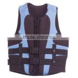 Top quality nice design neoprene nylon float jacket surfing solas approved life jacket