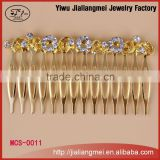 Fashion Bridal Crystal Gold Jewelry Rhinestone Small Crown Hair Combs