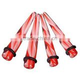 manufacturer of red piercing ear taper body jewelry