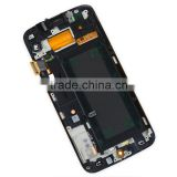 Full LCD Display+Touch Screen Digitizer Assembly Mobile Phone Repair Part Replacement for Samsung s6 edge( with frame)