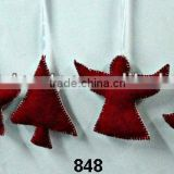 Velvet Stocking,Star,Tree,Angel & Bell X-Mas Hanging,Ornament & Decoration for Christmas Tree