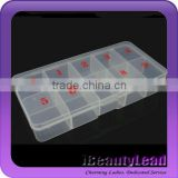 2015 nail container nail tips box empty container with 10 compartments