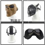 5 Colors Double Belt Horrible Cosplay Party Mask, Ghost Halloween Face Mask with Mesh Goggle