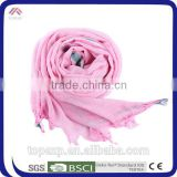 Custom Pink Polyester Satin Scarf Trendy Scarf
