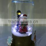 2016 New Christmas Santa Snowman Special Shaped Water Globe With Music Box and Led Light