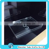 transparent china mac acrylic box plexiglass gift box with hinge price lucite box display