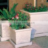 Square Lightweight Cement Planter with Saucer for Flower and Garden Planters from Viet Nam
