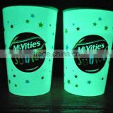 hot sale plastic glow in dark drinking party cup