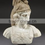 art deco riproduzioni Handcrafted stone carving roman soldier bust