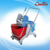 Down-press Double Mop Bucket Wringer Trolley For Home/Hotel B-045B