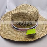 2017 school straw hat with band