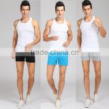 mens 100 cotton casual running beachwear tight super short knitted pants with draw string