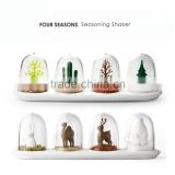 4PCS Kitchen Supplies Bottle Seasons Spice Seasoning Salt Pepper Shaker Condiment Shaker Container Animals Bottle KC1128