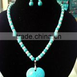 Craft and Beautiful Kallaite Jewelry Set With Alloy Accessories For Lady