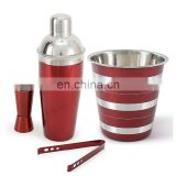 Factory Customiz Stainless Steel Bar Cocktail Portable Bartending Set