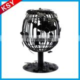 Fashionable Professional Manufacturer Glass Stand Metal Cage Candle Holder