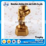 Gold color boxing competition trophy boxing glove crafts