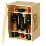 china factory sale buy single double 3, 6 bottle wooden wine packing box price