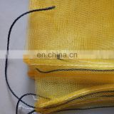 80x100cm,70x90cm green monofilament HDPE date tree date palm mesh net bag with black drawstrings