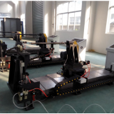 Drill pipe friction welding repair machine