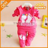 OEM Design Baby Girls Clothes Cotton Sport Clothes Baby Boys Clothing Set