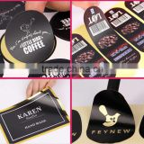 high quality fine and smooth self-adhesive coated paper label stickers with any logo