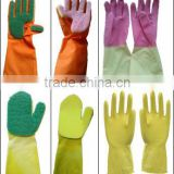 natural latex working glove/sponge & scouring pad glove/household latex glove